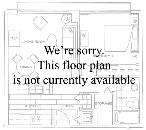 Floor Plan of One Bedroom Apartment