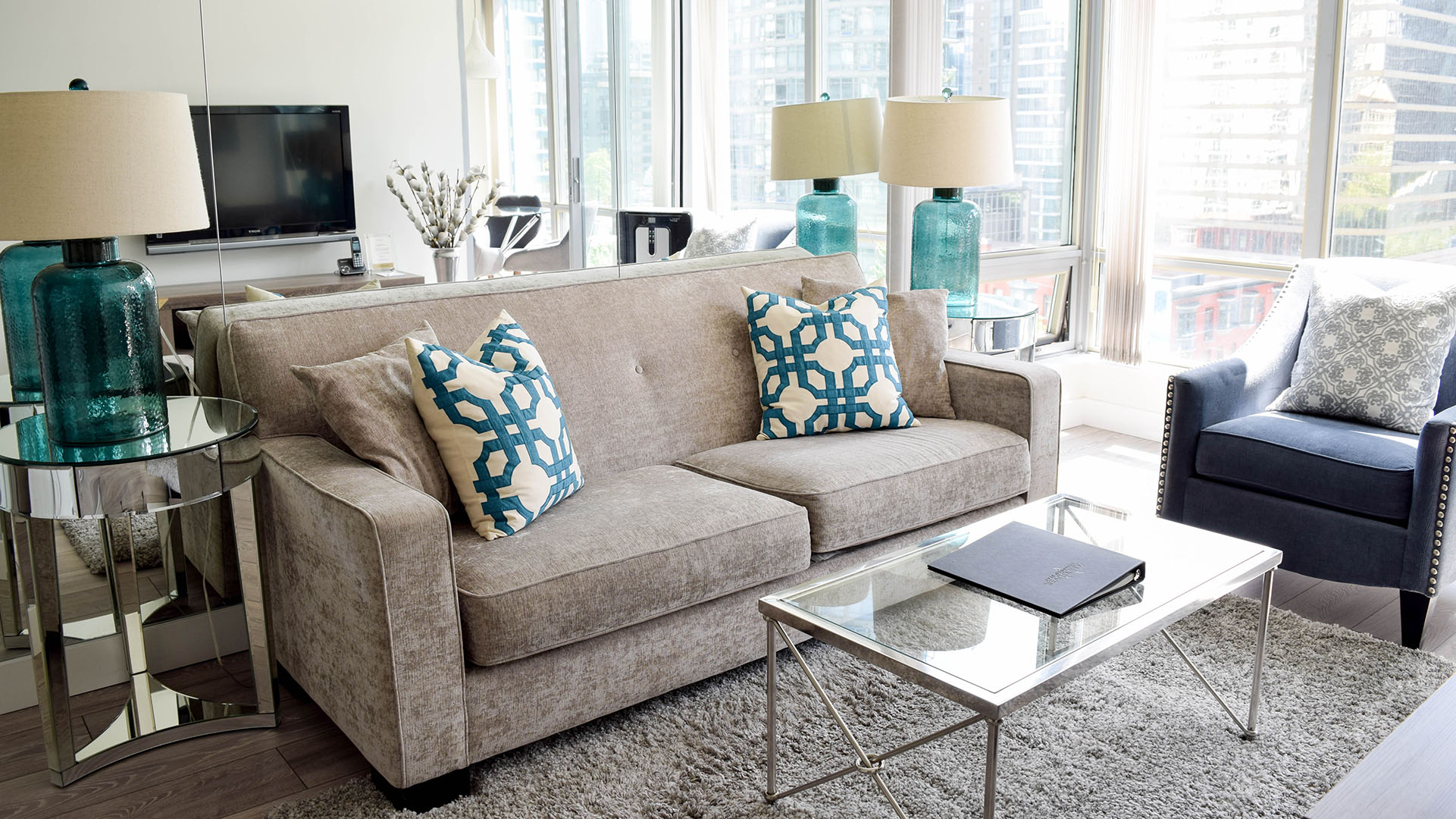 Photo of fully furnished apartment #1004 at The Residences on Georgia, 1288 West Georgia Street, Vancouver, BC