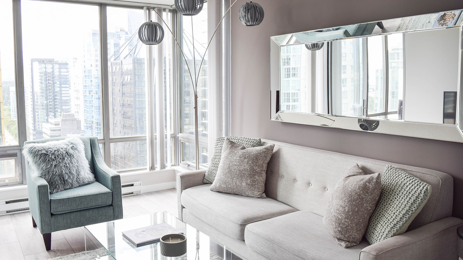 Photo of fully furnished apartment #1402 at The Residences on Georgia, 1288 West Georgia Street, Vancouver, BC