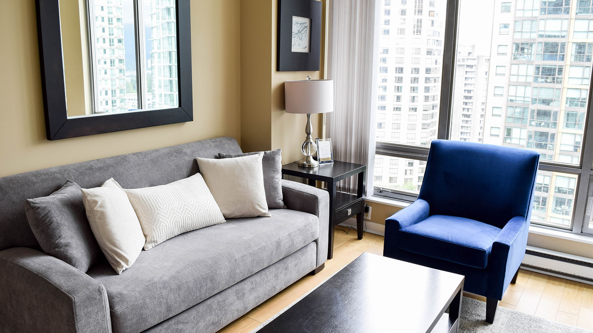 Photo of fully furnished apartment #1701 at The Residences on Georgia, 1288 West Georgia Street, Vancouver, BC