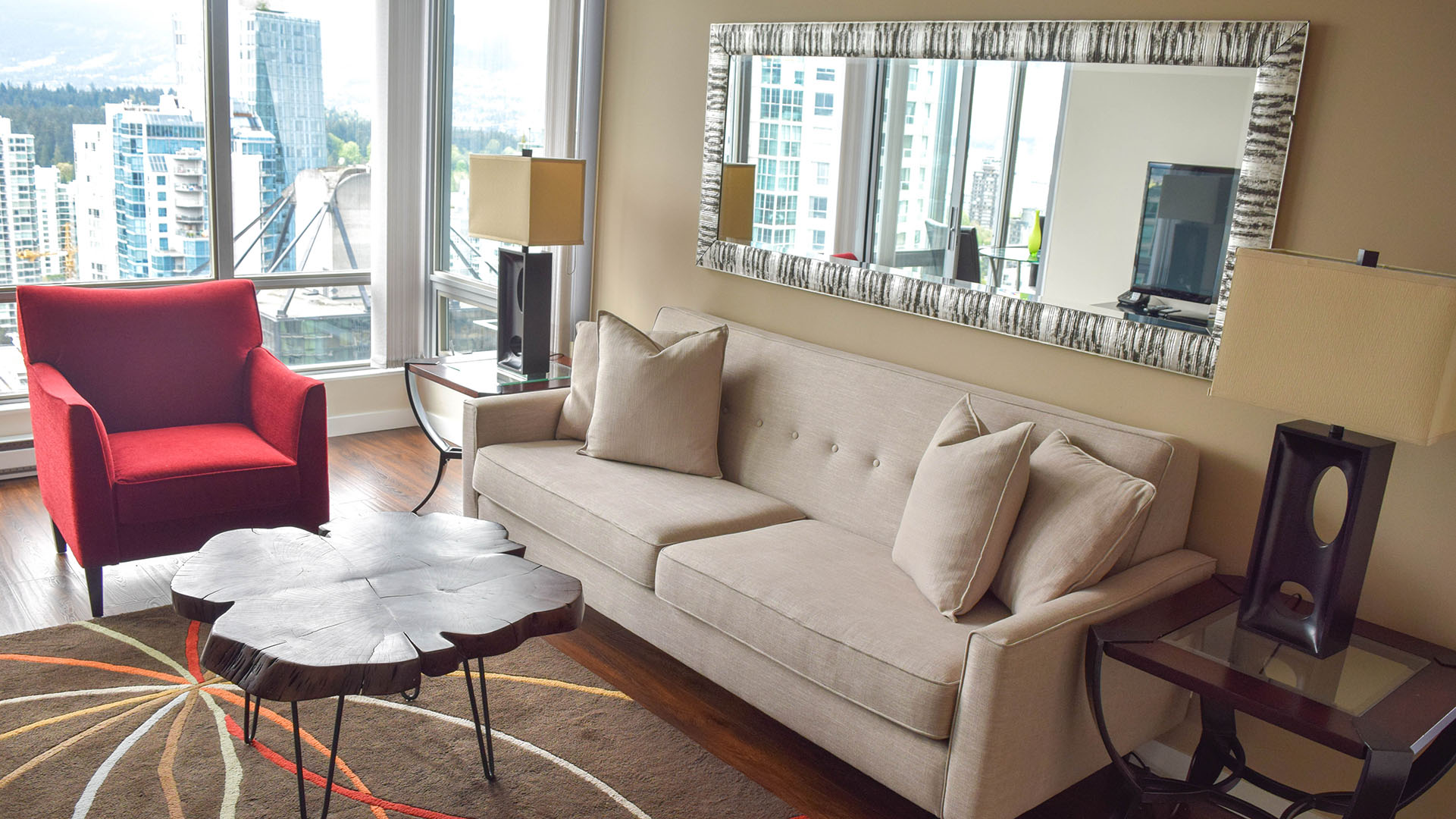 Photo of fully furnished apartment #2602 at The Residences on Georgia, 1288 West Georgia Street, Vancouver, BC