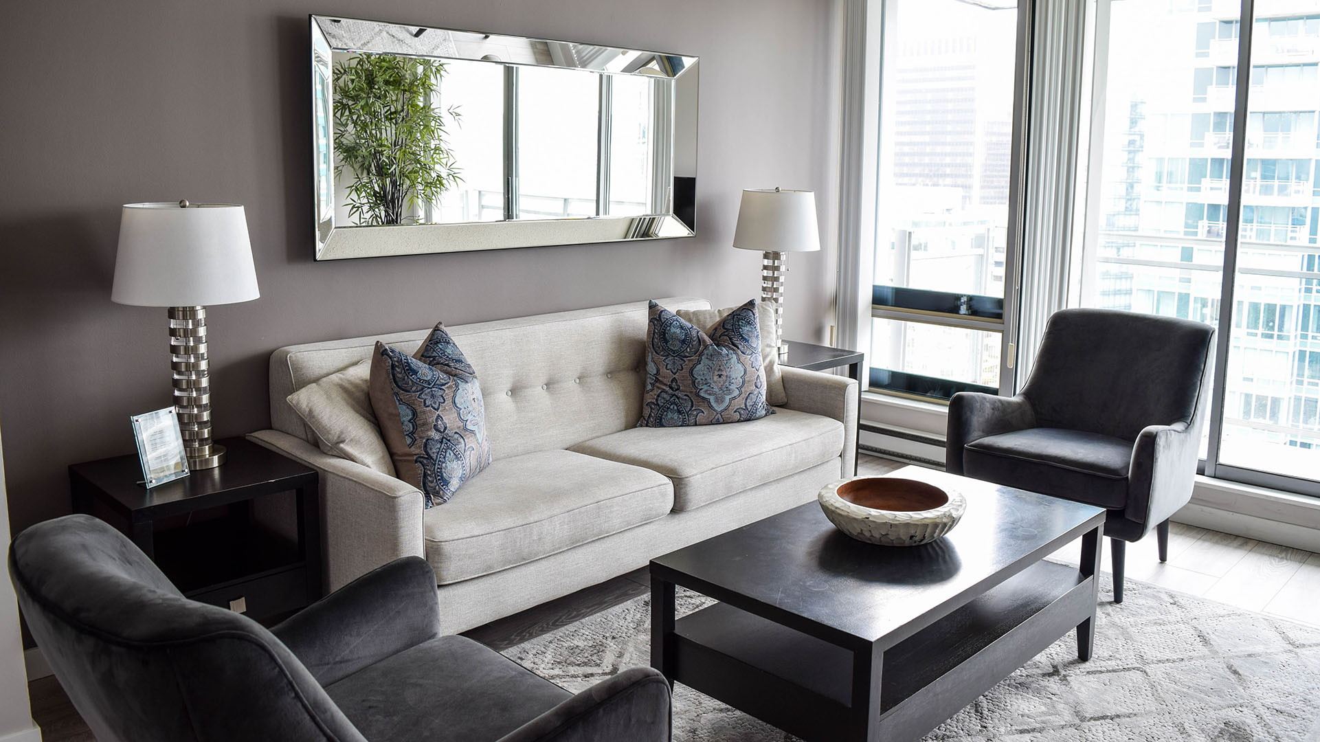 Photo of fully furnished apartment #2905 at The Residences on Georgia, 1288 West Georgia Street, Vancouver, BC