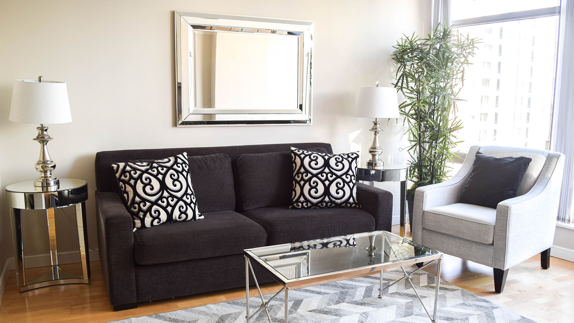Photo of fully furnished apartment #1804 at The Palisades, 1200 Alberni Street, Vancouver, BC