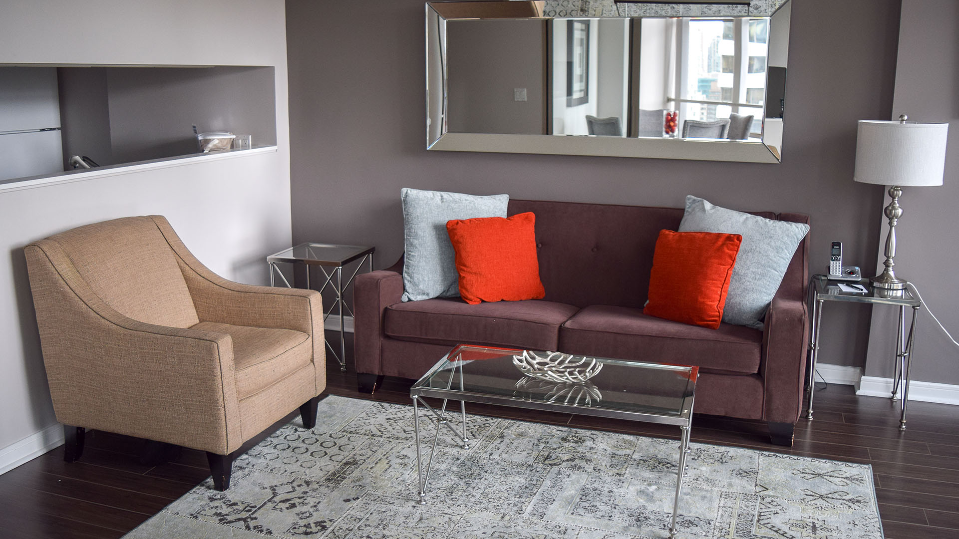 Photo of fully furnished apartment #1906 at The Palisades, 1200 Alberni Street, Vancouver, BC