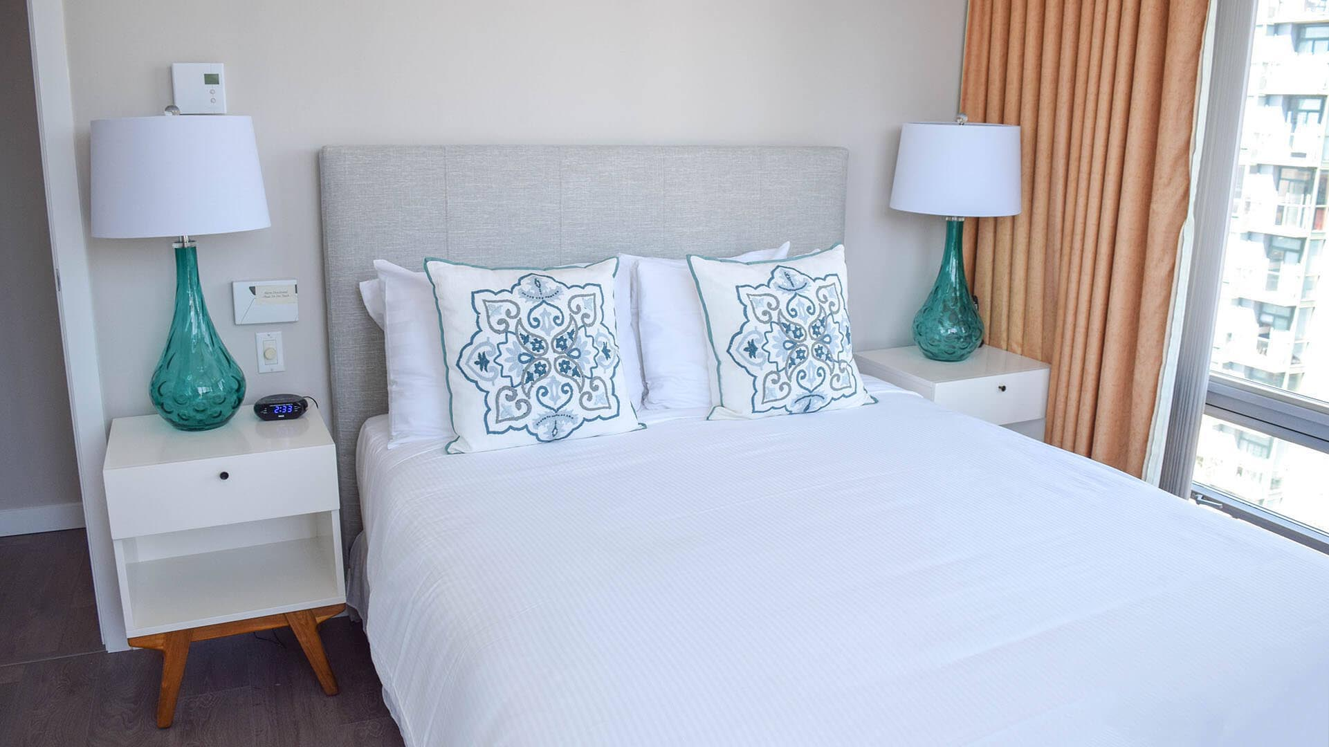 Master Bedroom In Two Bedroom Furnished Apartment