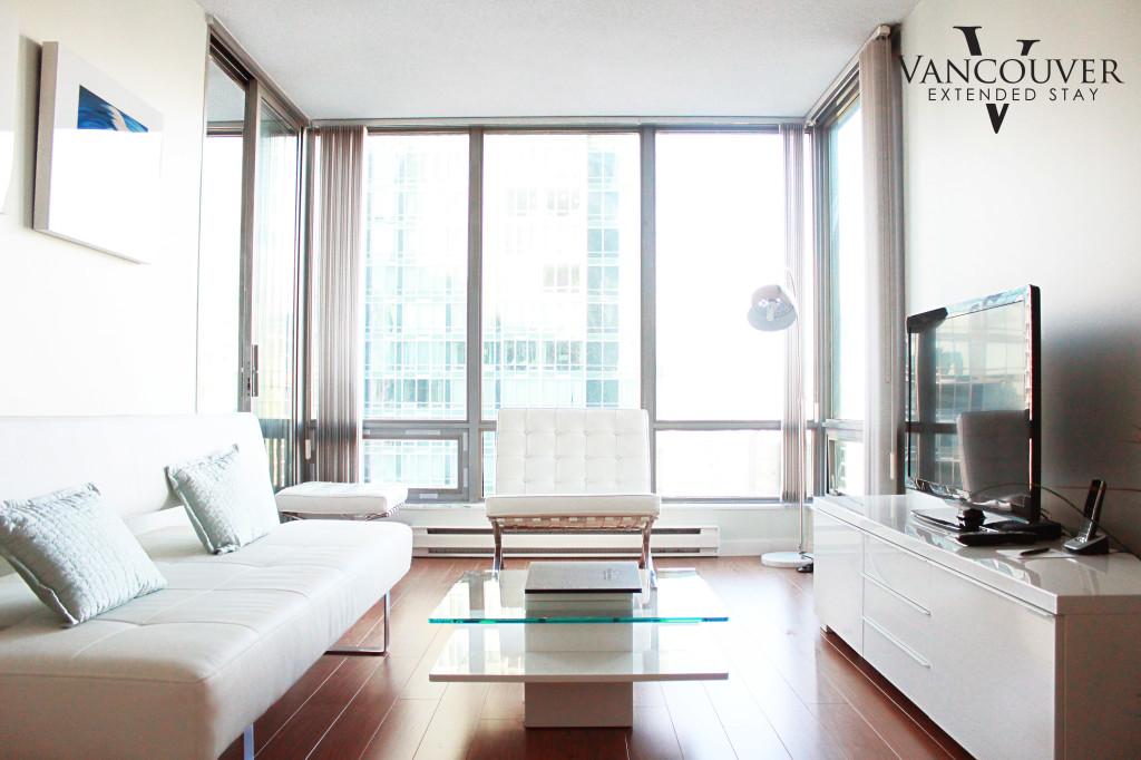 White condo suite living room