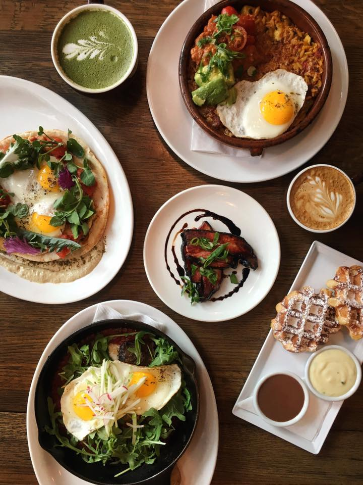 Vancouver Restaurants - Cafe Medina - Waffles and Breakfast Plates