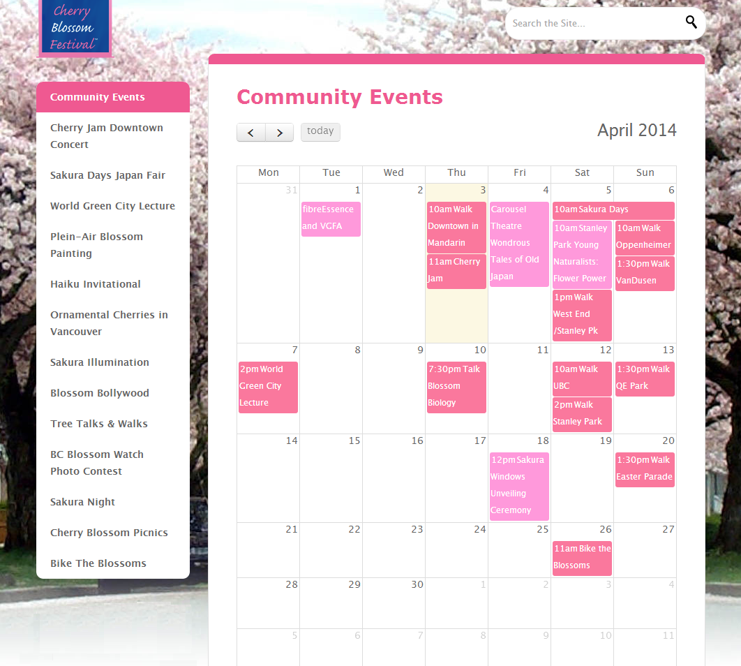 Cherry Blossom Festival Vancouver Schedule