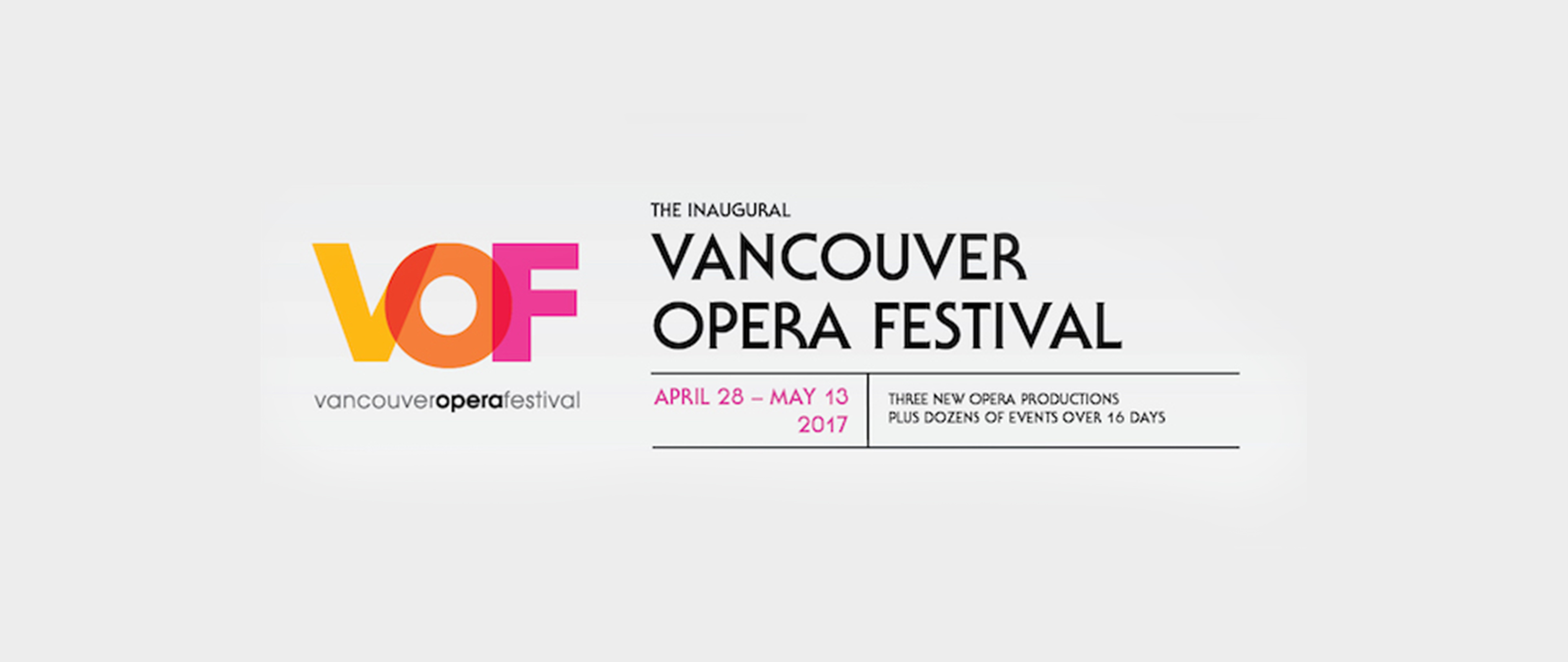 Vancouver Opera Festival banner