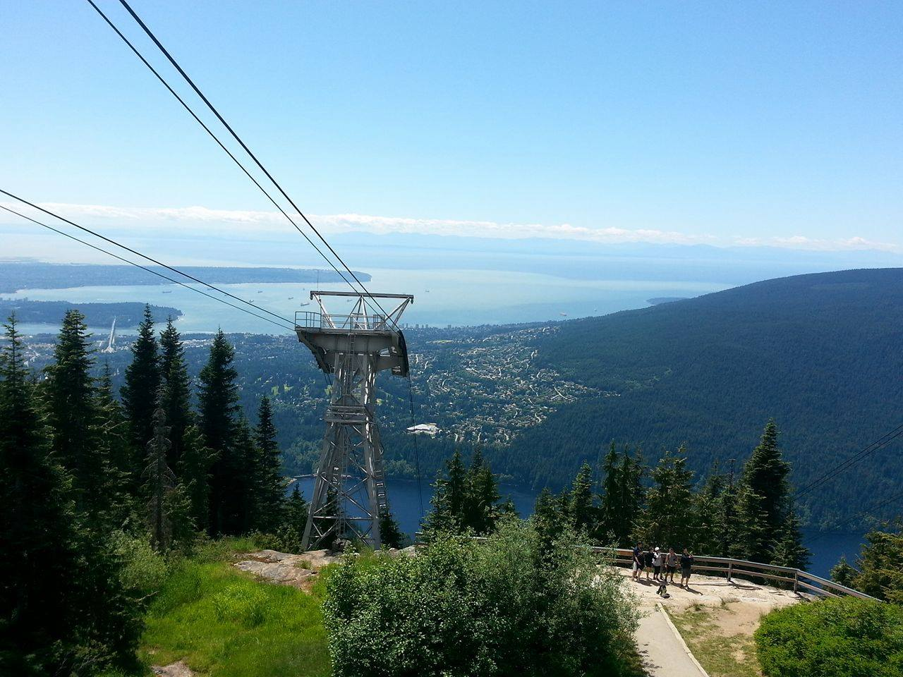 Image of the view from Grouse Mountain in North vancouver